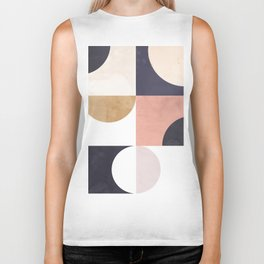Geometric Moontime 1 Biker Tank