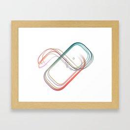Modern abstract design Framed Art Print