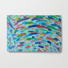 Color Whirl Metal Print