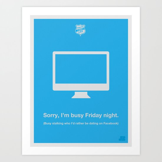Friday Night Art Print