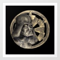Darth Vader and the Imperial Seal Art Print