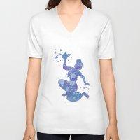 aladdin V-neck T-shirts featuring Aladdin Disneys by Carma Zoe