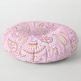 Pink Paisley Floor Pillow