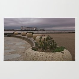 Weston-Super-Mare Seafront View Towards The Grand Pier Rug