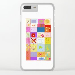 SUMMER QUILT Clear iPhone Case
