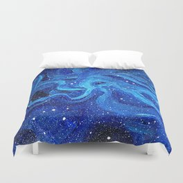 Galaxy Painting Acrylic Galaxy Art Duvet Cover