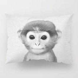 Baby Monkey - Black & White Pillow Sham