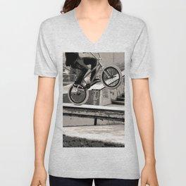 Wheelie Master  - BMX Biker Unisex V-Neck