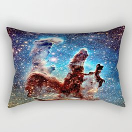 The Pillars of Creation Blue Brown Rectangular Pillow
