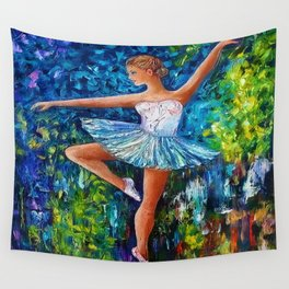 Dance In The Rain Of Color Wall Tapestry