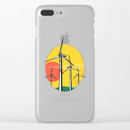 Wind Power. Clear iPhone Case