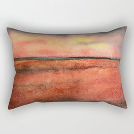 Orange at the Beach Rectangular Pillow