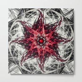 Dark Magic Fractal RED Metal Print