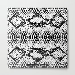 Black and white snake Skin for home decoration Metal Print