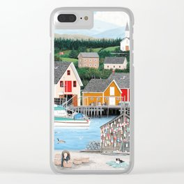 Fisherman's Cove Clear iPhone Case