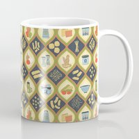pasta Mugs featuring Pasta Fun Pattern by Noonday Design