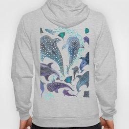 Whale Shark, Ray & Sea Creature Play Print Hoody