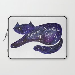 Watercolor Galaxy Cat - purple Laptop Sleeve