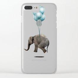 Levitating Elephant Clear iPhone Case