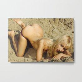 Desert girl Metal Print