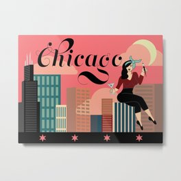 Chicago: Wish You Were Here Metal Print