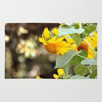 sunflowers Area & Throw Rugs featuring SUNFLOWERS :) by Teresa Chipperfield Studios