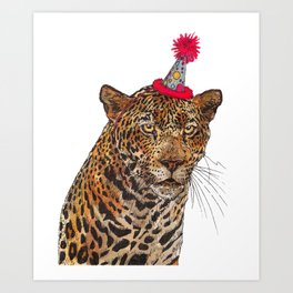 Jaguar Party Art Print
