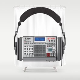 Executive Groove Sampler-Head [ MPC Only ] Shower Curtain