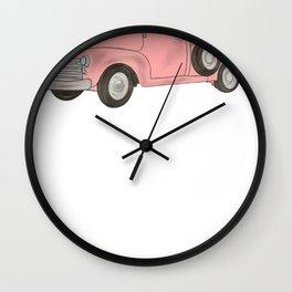 Vintage Trucks Pink Pickup Truck Wall Clock