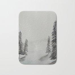 Snowy trees Bath Mat