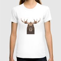 moose T-shirts featuring Moose by Alysha Dawn