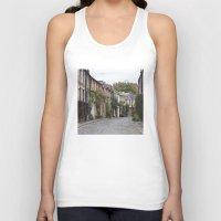 edinburgh Tank Tops featuring Edinburgh street by RMK Creative