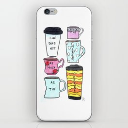 Only the coffee matters! iPhone Skin