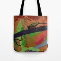 pain Tote Bags featuring Pain by ErikMcManusInc.