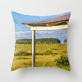 Rural Field Scene, San Jose Department, Uruguay Throw Pillow