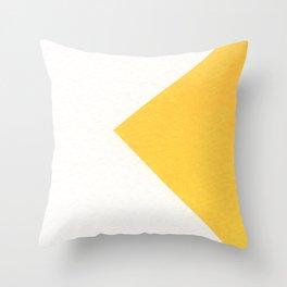 White / Yellow Throw Pillow