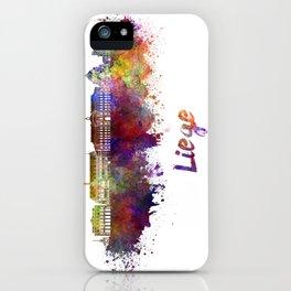 Liege skyline in watercolor iPhone Case