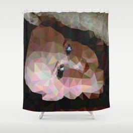 Geometric Doll Head Shower Curtain