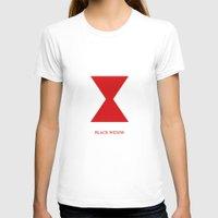 black widow T-shirts featuring Black Widow by Kayla Nicole
