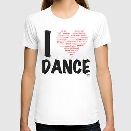 I Heart Dance (black) T-shirt