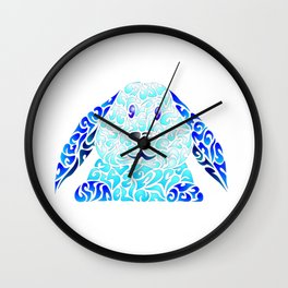 Blue Lapinou Wall Clock