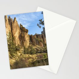 Cool Formations of Smith Rock in Morning Light Stationery Cards