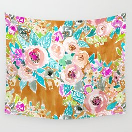 SO LUSCIOUS Colorful Abstract Floral Wall Tapestry