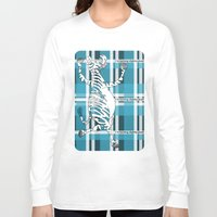zebra Long Sleeve T-shirts featuring Zebra  by mailboxdisco