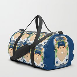Baseball Blue Pinstripes - Rhubarb Pitchbatter - Josh version Duffle Bag