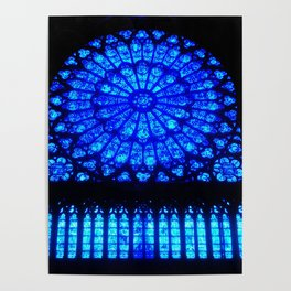Notre Dame Stained Glass Poster