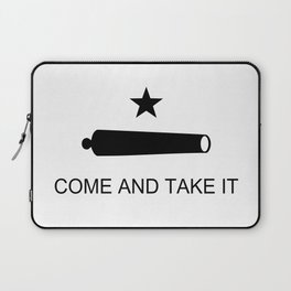Texas Come and Take it Flag (high quality image) Laptop Sleeve