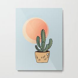 Cactus in the Sun Metal Print