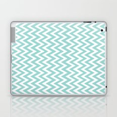 Teal Blue Chevron Laptop & iPad Skin
