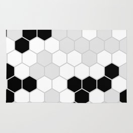 Honeycomb Pattern | Black and White Design | Minimalism Rug